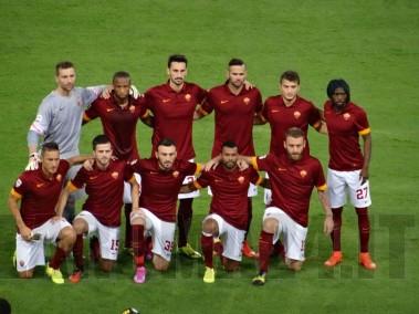 Foto-squadra-Presentazione-Roma-Fenerbahce-19.08.14
